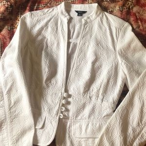 Mossimo White Quilted Blazer